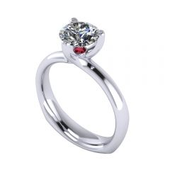 White Gold 3-Prong Engagement Ring