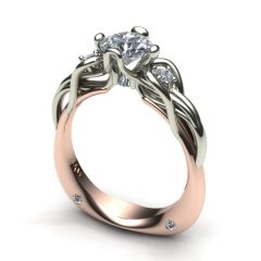 French Rose & White Gold Engagement Ring
