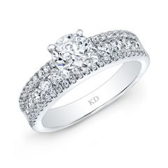 White Gold Trendy Diamond Engagement Ring