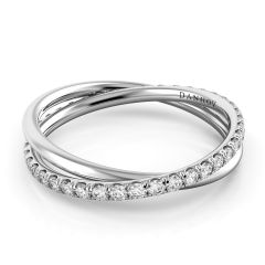 Danhov Twisted Platinum Ring for Women ZB103-A