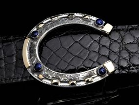 AT50 Lapis Horseshoe Buckle